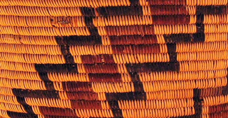 orange red and brown basket pattern