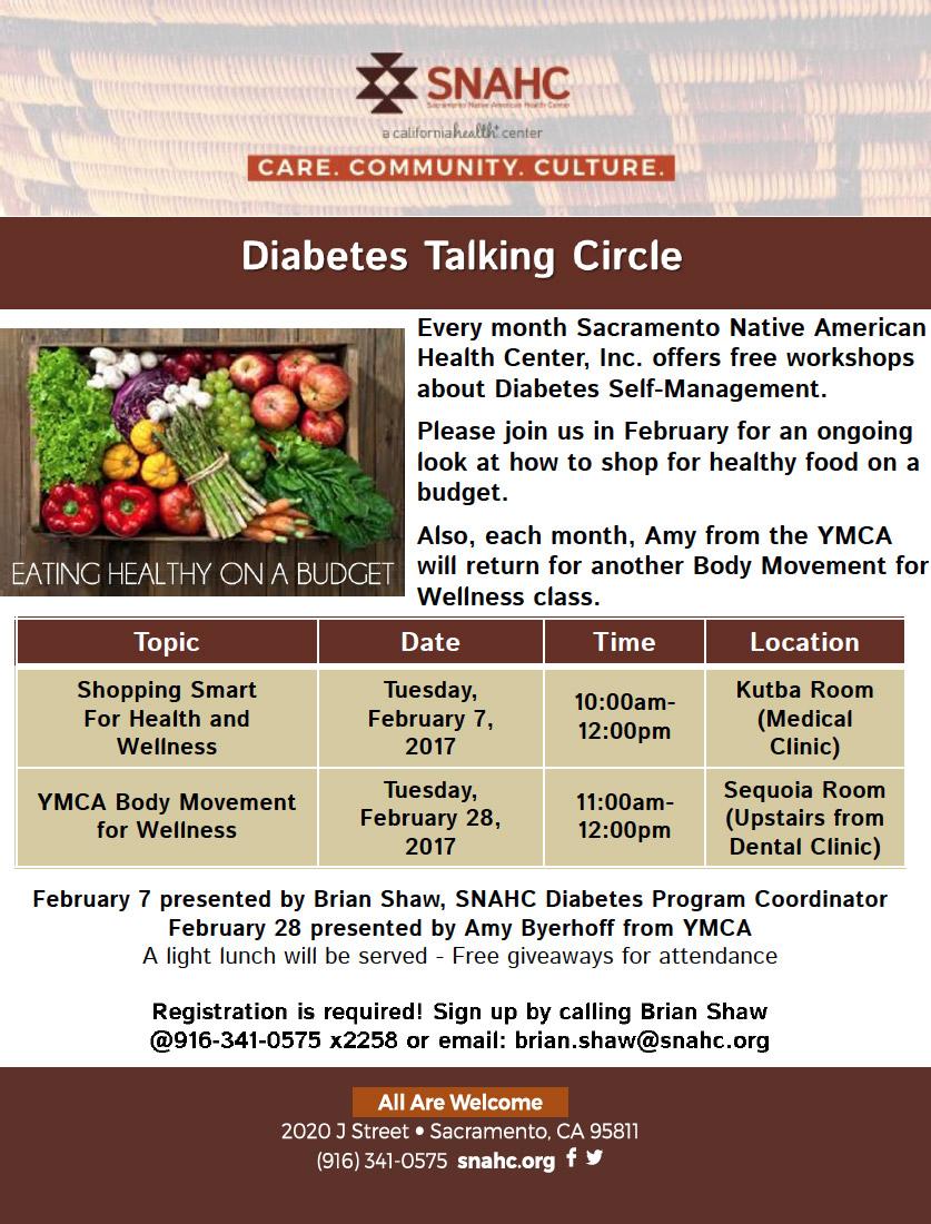 Diabetes Talking Circle flyer