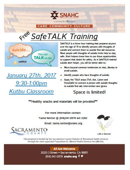 Safe talk flyer