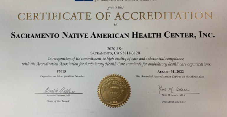 Recertification Certificate