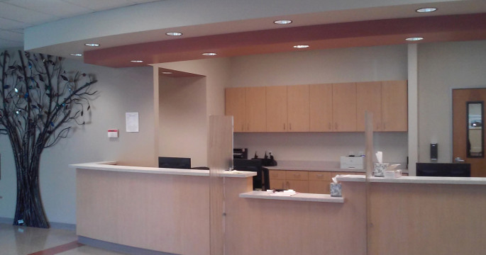 photo of the new lobby